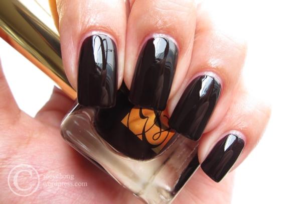 Estée Lauder Pure Color Nail Lacquer In Black Iris   joey\'space