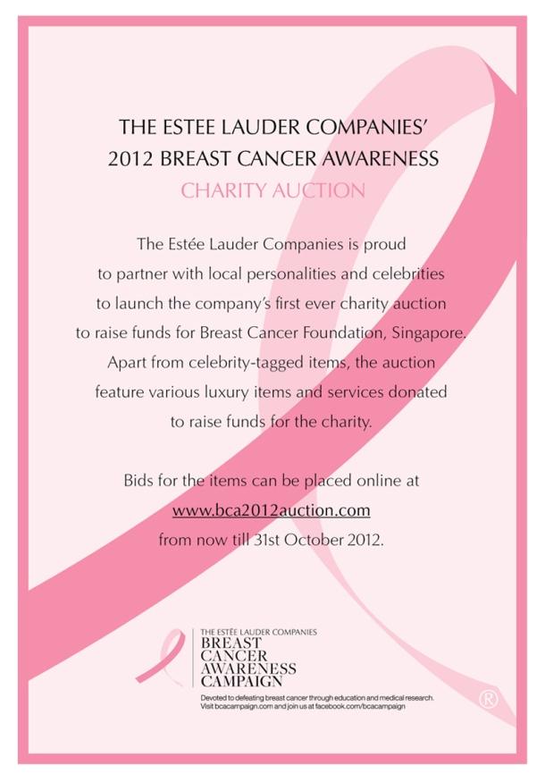 Estée Lauder Companies 2012 Breast Cancer Awareness Charity Auction