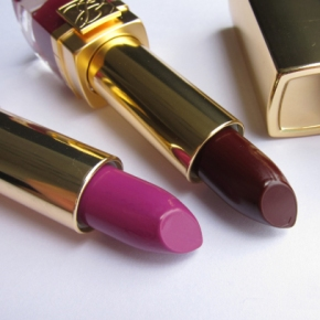Estée Lauder Pure Color Velvet Lipstick In Black Cassis & Violet Crush