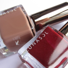 Lunasol Nail Finish In 07 Cool Beige & EX 06 Deep Red