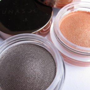 Lunasol Sheer Glossy Eyes In EX 01 Nuance Gray & EX 04 Peach Beige