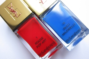 Yves Saint Laurent La Lacquer COUTURE In 1 Rouge Pop Art & 18 Bleu Majorelle