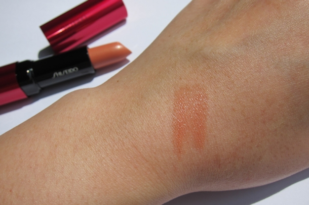 Shiseido Perfect Rouge Tender Sheer In BE 302 Topaz (6)