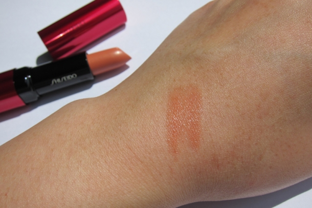 Shiseido Perfect Rouge Tender Sheer In BE 302 Topaz (7)