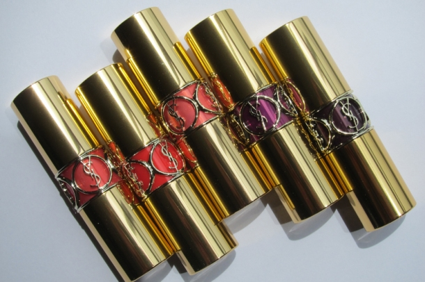 YSL Rouge Volupté Shine In N° 3, 6, 12, 13 & 19 (2)
