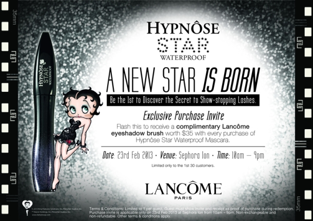 Lancôme Hypnôse Star Waterproof Exclusive Purchase Invite