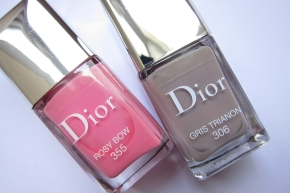 Dior Vernis In 306 Gris Trianon & 355 Rosy Bow