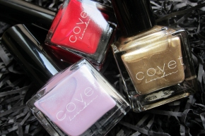 COVET London Nail Lacquers In Celebrate, Confidence & Dream