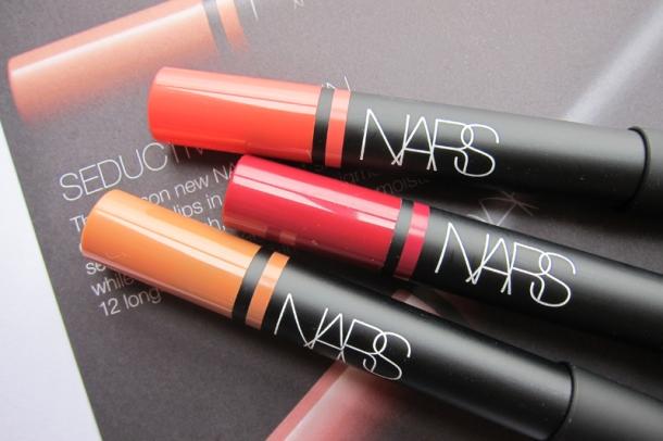 NARS Satin Lip Pencils In Floralies, Lodhi & Hyde Park (2)