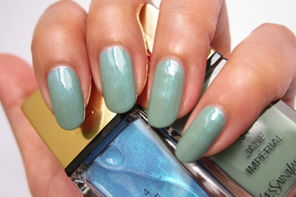 YSL Tie & Dye Pearly Coloured Top Coat In N°4 Ice Coat (13)