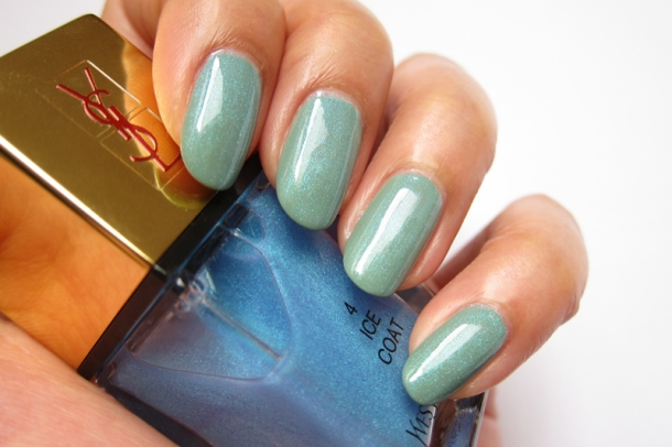 YSL Tie & Dye Pearly Coloured Top Coat In N°4 Ice Coat (14)