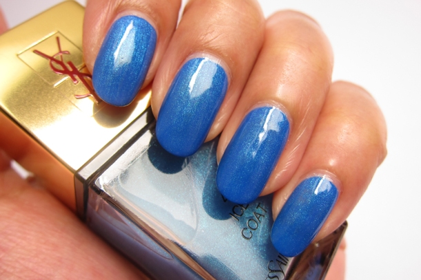 YSL Tie & Dye Pearly Coloured Top Coat In N°4 Ice Coat (5)