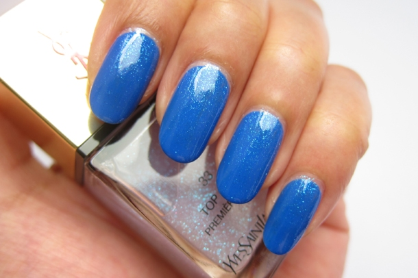 YSL Tie & Dye Pearly Coloured Top Coat In N°4 Ice Coat (9)