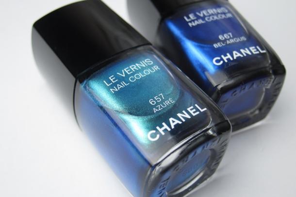 Chanel Le Vernis In 657 Azuré & 667 Bel-Argus (1)