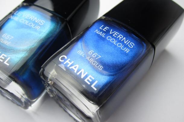 Chanel Le Vernis In 657 Azuré & 667 Bel-Argus (2)