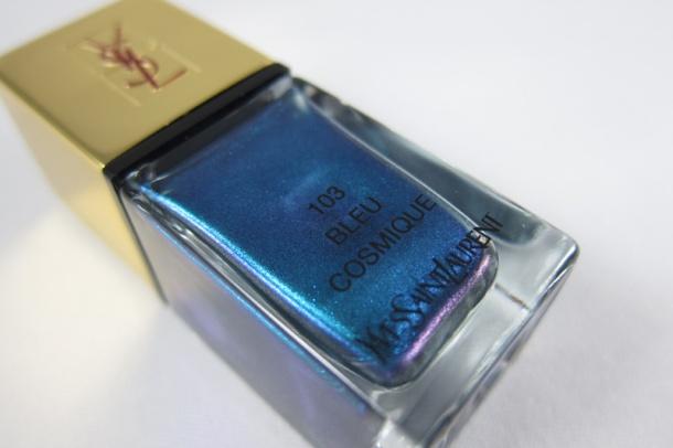 YSL La Lacquer COUTURE In 103 Bleu Cosmique (1)