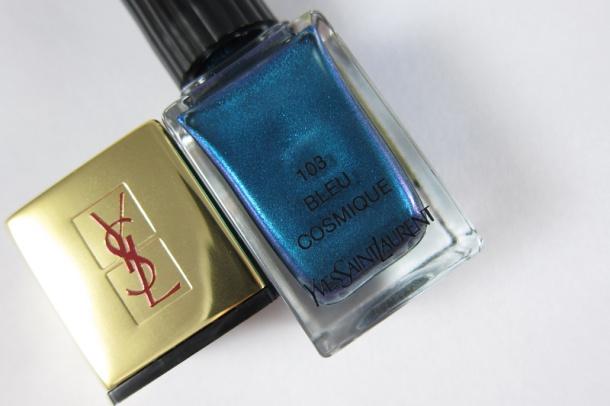 YSL La Lacquer COUTURE In 103 Bleu Cosmique (2)