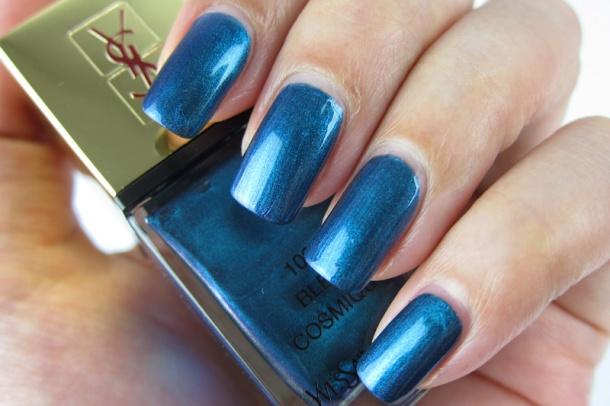 YSL La Lacquer COUTURE In 103 Bleu Cosmique (3)