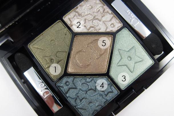 Dior 5 Couleurs Mystic Metallics Eyeshadow Palette In 384 Bonne Étoile (3a)