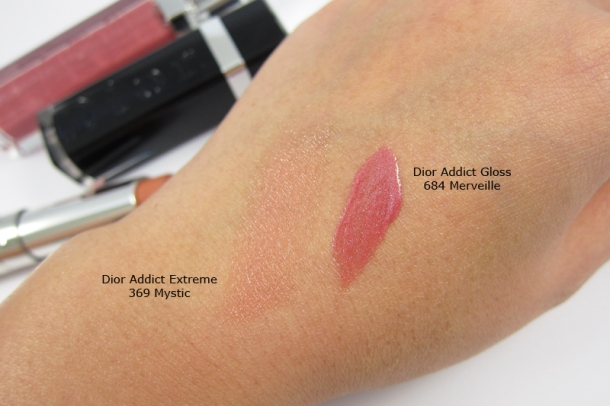 Dior Addict Extreme in 369 Mystic & Dior Addict Gloss in 684 Merveille [SWATCH]