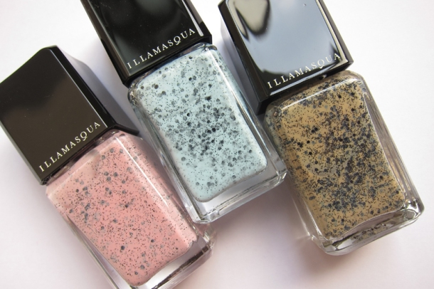 Illamasqua Nail Varnish In Fragile, Scarce & Freckle  (1)