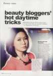 HER WORLD June 2013 | Beauty Bloggers' Hot Daytime Tricks
